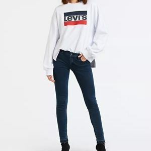 Levis 710 Super Skinny Raw Edge High Rise Jeans